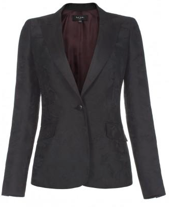 Paul Smith  Black Floral Jacquard Jacket
