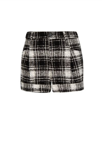 Mango  High Waist Check Shorts