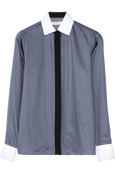Vanessa Bruno  Cotton-Poplin Tuxedo Shirt