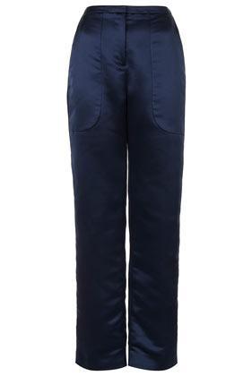 Topshop by Unique  Satin High Waist Trouser