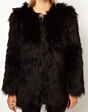 Selected Sierra  Faux Fur Coat