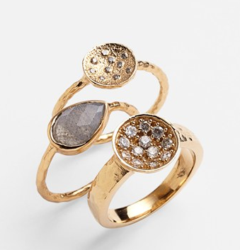 Melinda Maria  Palmer Pod Stackable Ring