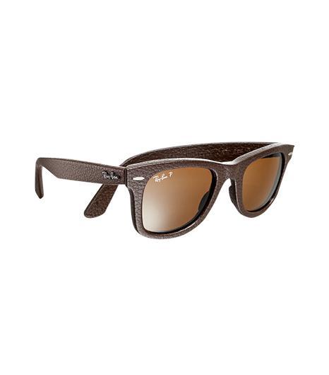 Ray-Ban  Ray-Ban Leather-Wrapped Wayfarers Sunglasses