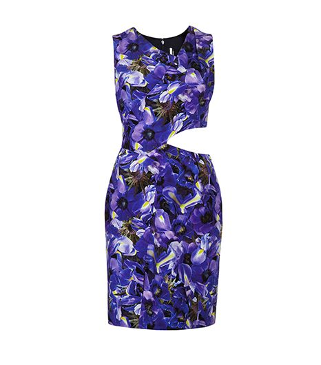 Topshop  Topshop Iris Print Wrap Shift Dress