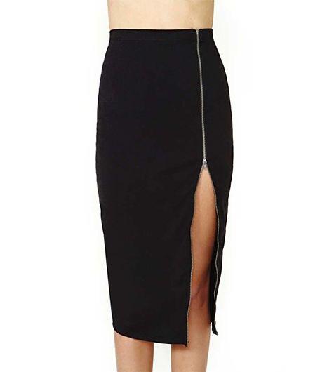 Nasty Gal Nasty Gal Zip It Up Midi Skirt