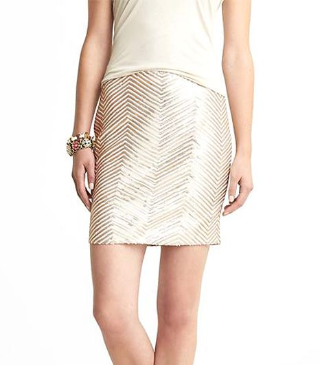 Banana Republic  Banana Republic Chevron Striped Sequin Mini