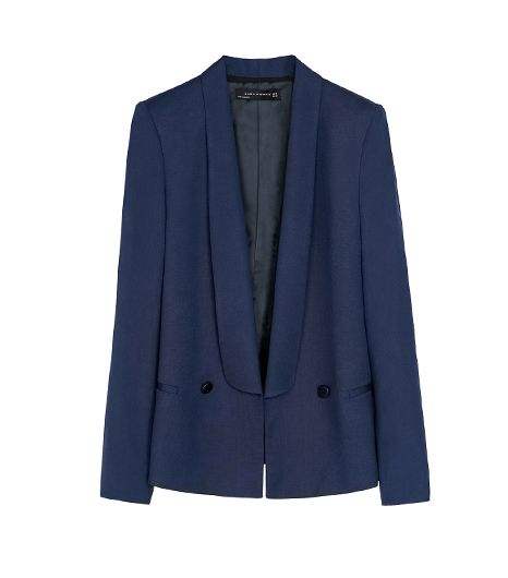 Zara  Zara Tuxedo Collar Blazer