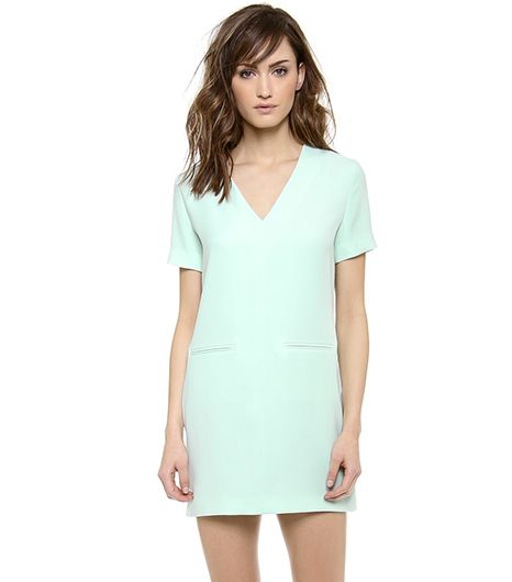 T By Alexander Wang  T By Alexander Wang Drape Suiting V-Neck Dress