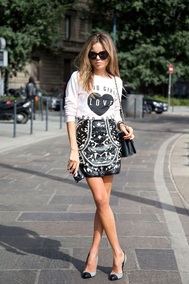Graphic Tees And Prints Mixed 3 Ways, Street Style Inspiration Straight From Milan