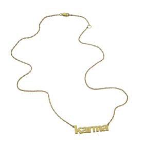 Jennifer Zeuner  Lowercase Block Nameplate Necklace