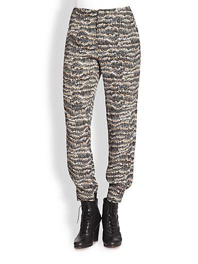 Rag & Bone  Leisure Printed Silk Pants