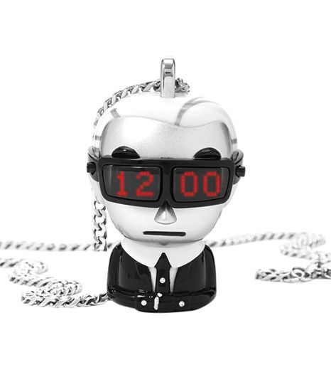 Karl Lagerfeld and Tokidoki  Digital Necklace Watch