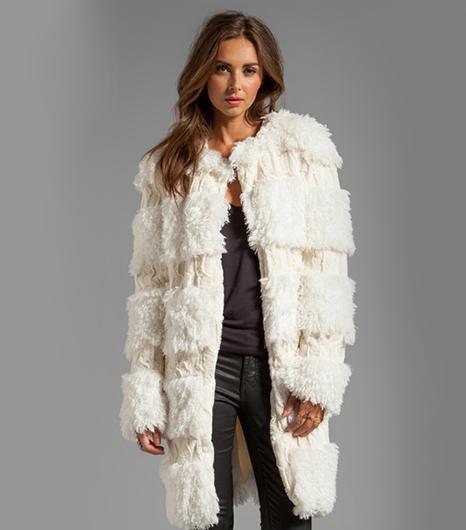 Anna Sui Anna Sui Mongolian Faux Fur Coat