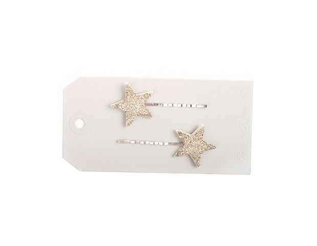 Silver Sparker Star Bobby Pins