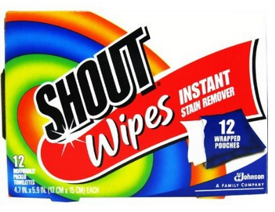 Shout Stain Remover Wipes 12 Count