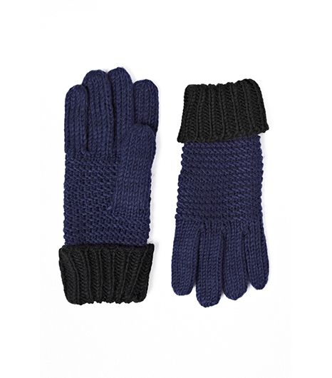 French Connection  Double Block Knitted Gloves