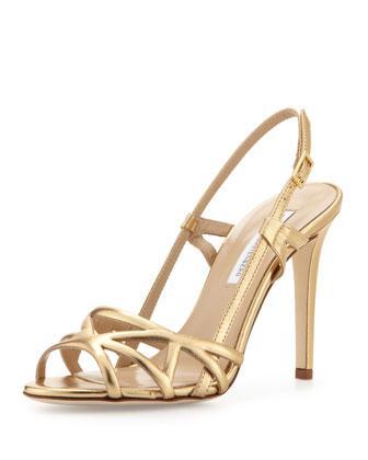 Diane von Furstenberg  Upton Strappy Slingback Sandals