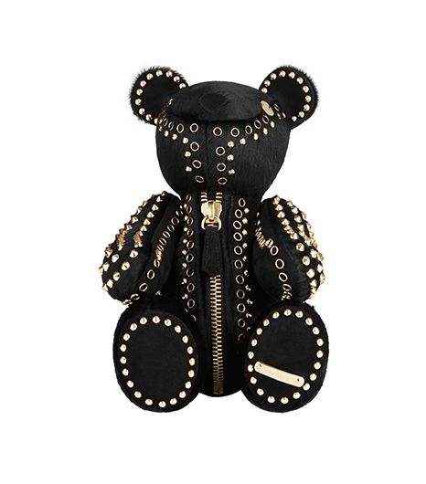 Burberry Burberry Studded Calf Hair Teddy Bear