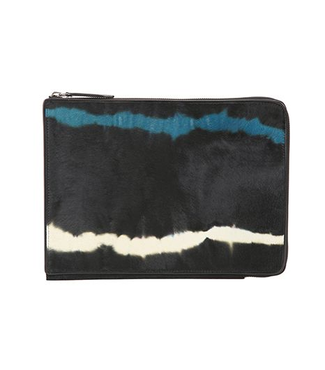 Dries Van Noten Dries Van Noten Tie-Dye Ponyhair Tablet Case