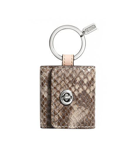 Coach  Coach Faux Python Turnlock Picture Frame Key Ring