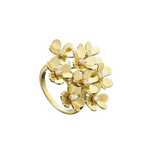 Van Cleef & Arpels  Van Cleef & Arpels Frivole 18K Yellow Gold And Diamond Ring