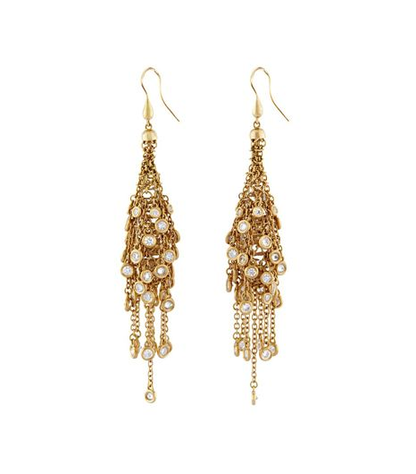 Wilfredo Rosado Wilfredo Rosado 18K Yellow Gold Fringe Earrings With Diamonds