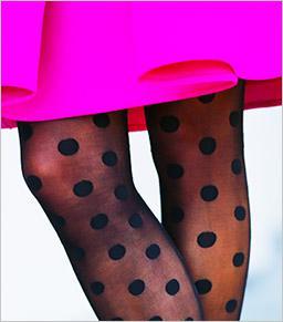 HUE Polka Dot Fashion Sheers