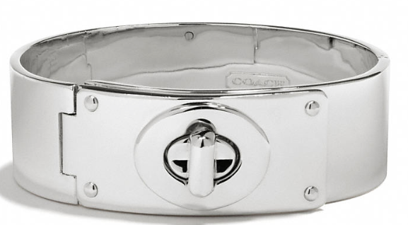 Coach Small Turnlock Plaque Bracelet