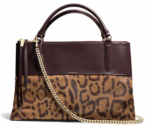 Coach The Borough Bag in Leopard