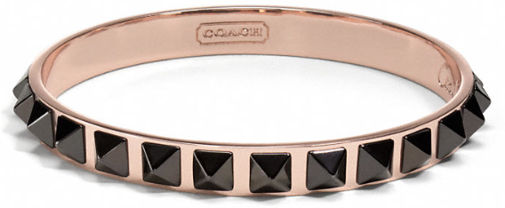 Coach Pyramid Spike Bangle