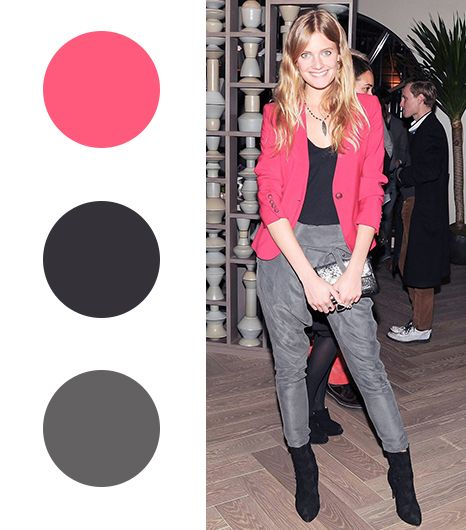 Constance Jablonski   Tomato Red + Black + Slate Gray