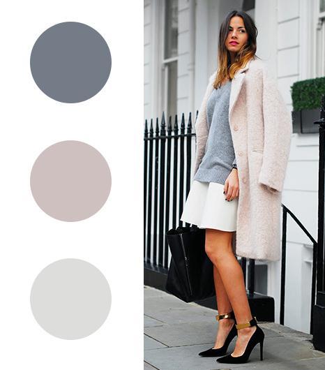 Zina Charkoplia of Fashion Vibe  Gray +Ballet Pink + White