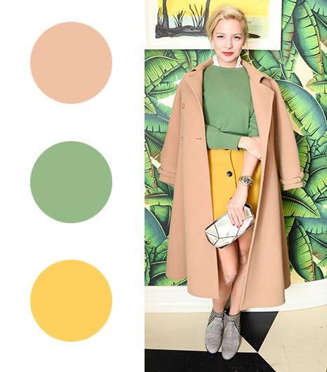 Annabelle Dexter-Jones   Camel + Moss Green + Yellow