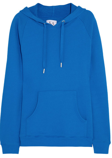 Zoe Karssen Hooded Cotton-Blend Jersey Sweatshirt