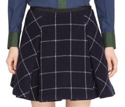 Sacai Luck Check Print Pleated Skirt