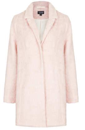 Topshop Fluffy Swing Boyfriend Coat