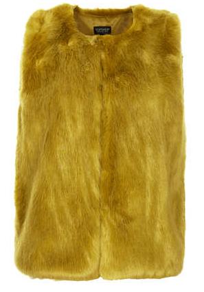Topshop Boxy Fur Gilet