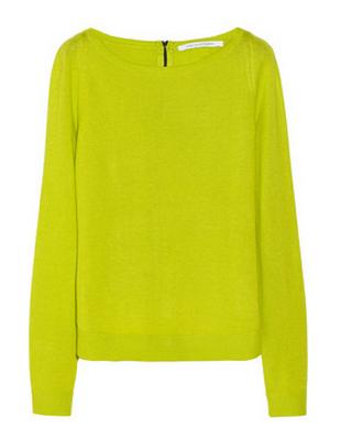 Diane Von Furstenberg New Noa Silk And Cashmere-Blend Sweater