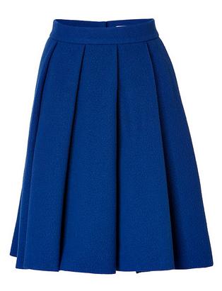 J.W. Anderson Wool-Blend Ten Pleast Skirt In Blue