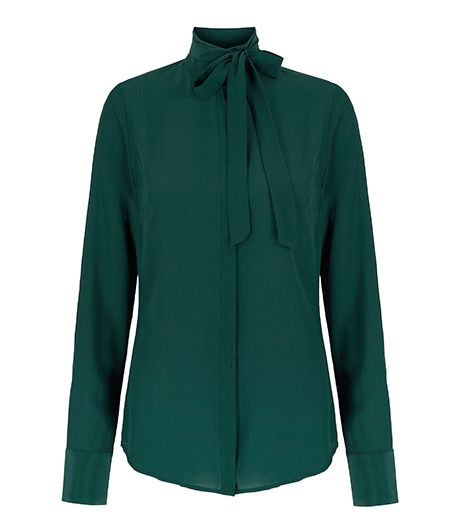 L'Wren Scott Banana Republic L'Wren Scott Banana Republic Green Bow Blouse