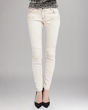 Maje  Slim Denim Moto Detail Jeans