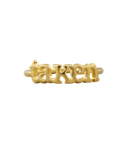 Dogeared  Dogeared Small Golden Taken Ring