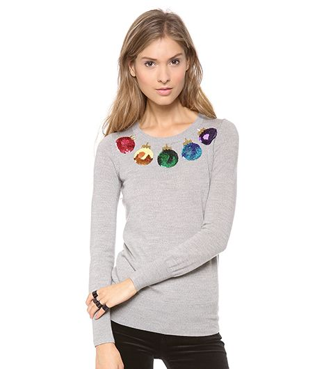 Markus Lupfer Markus Lupfer Christmas Baubles Sequin Sweater