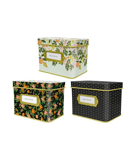 Urbanic  Urbanic Tin Recipe Boxes ($39)