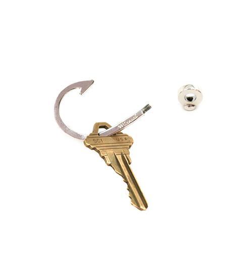 Miansai Miansai Sterling Hooked Keychain
