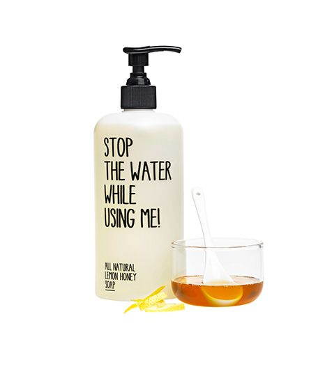 Stop The Water While Using Me!  Stop The Water While Using Me! All Natural Lemon Honey Soap