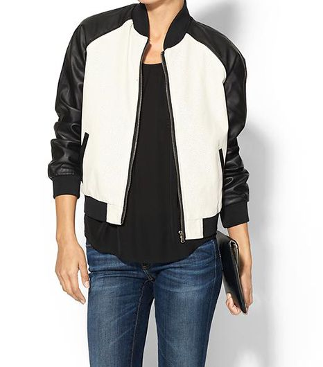 RD Style RD Style Perforated Vegan Leather Bomber