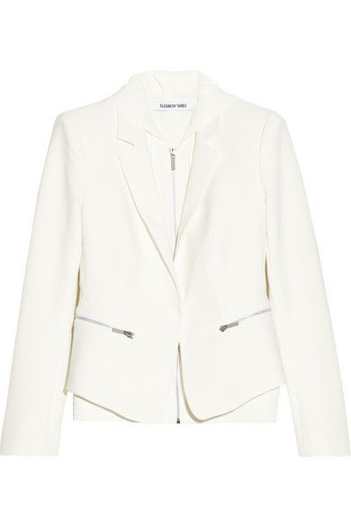 Elizabeth and James  Suzie Layered Stretch-Crepe Jacket