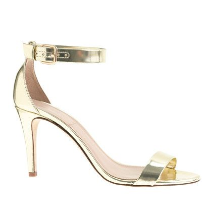 J.Crew  Mirror Metallic High Heels