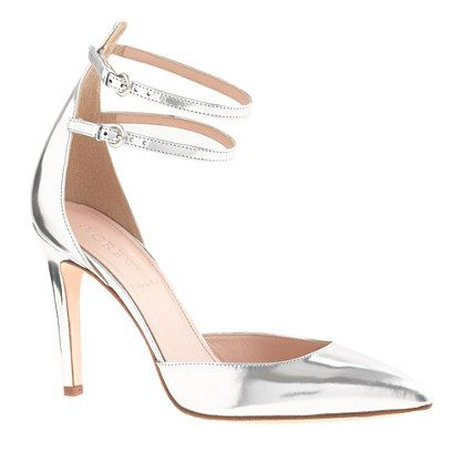 J.Crew  Strappy Mirror Metallic Pumps